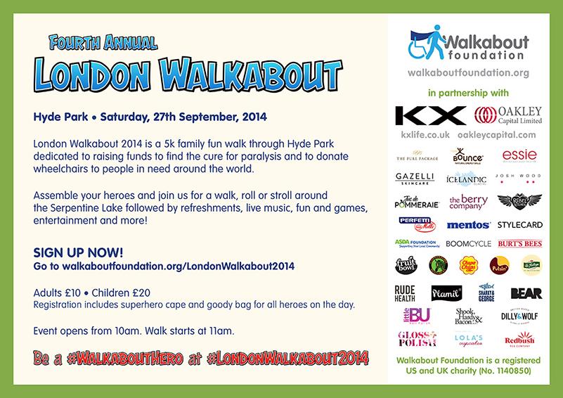 London Walkabout Flyer – Reverse